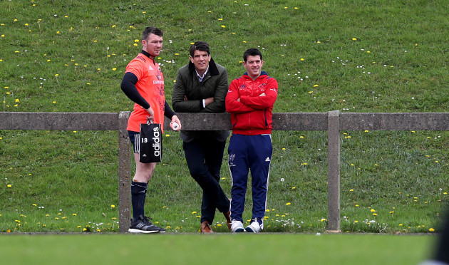 Donncha O'Callaghan with Peter O'Mahony and George Murray