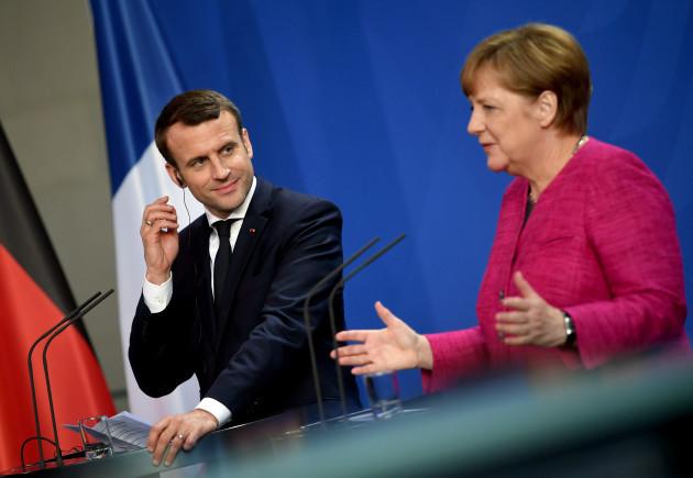 French President Macron visits Germany
