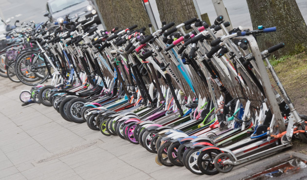 Scooters at school in Hanover