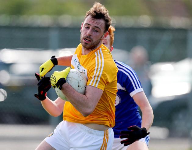 Matt Fitzpatrick in action against James Kelly
