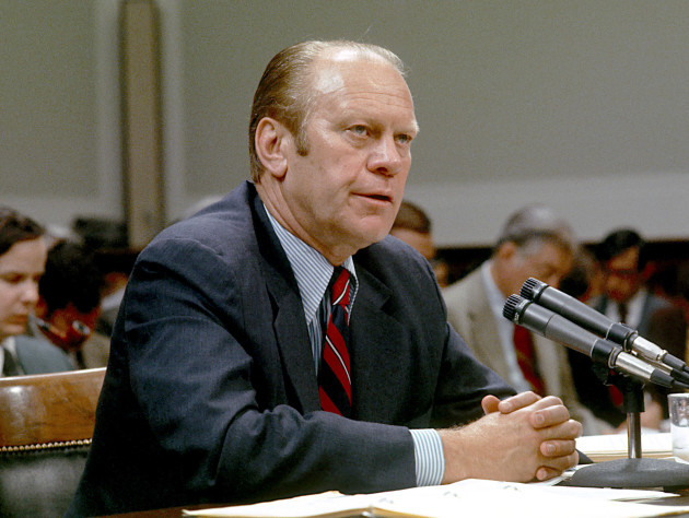 United States President Gerald R. Ford testifies before the United States...