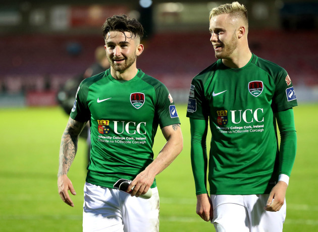 Sean Maguire and Kevin O'Connor celebrate winning