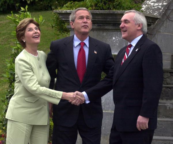 AMERICAN PRESIDENTS GEORGE BUSHS VISIT TO IRELAND 2004