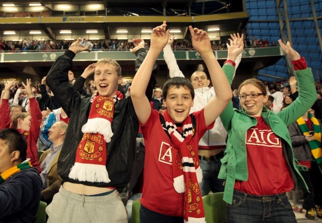 Fans in the Aviva Stadium