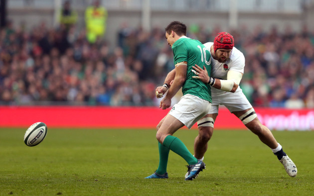 James Haskell tackles Johnny Sexton