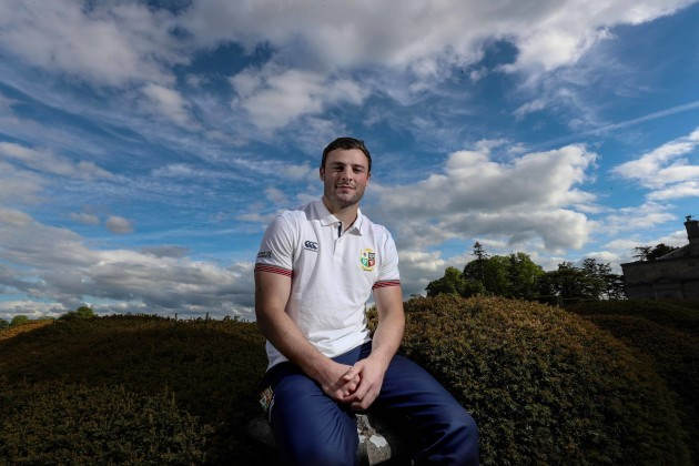 Robbie Henshaw during the press conference