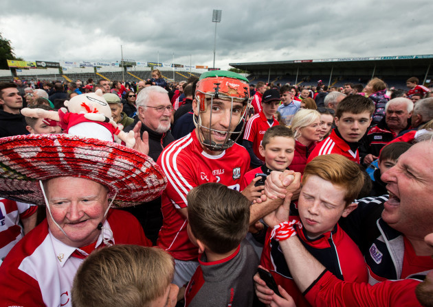 Stephen McDonnell celebrates with supporters