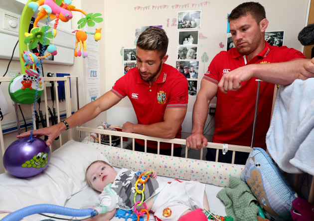 Rhys Webb and Sean O'Brien with Henry Donnelly