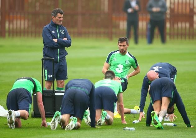 Roy Keane and Conor Hourihane