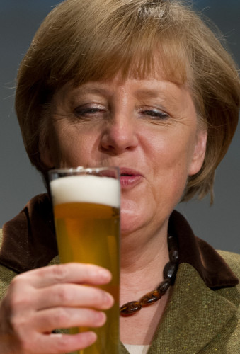 German Chancellor Angela Merkel at New Year's reception