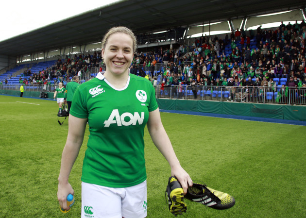 Niamh Briggs after the game