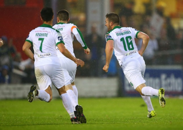 Gearoid Morrissey celebrates scoring their second goal