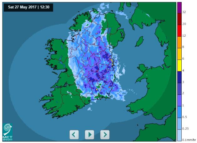 Met Éireann rainfall
