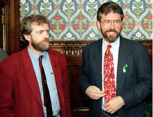 Jeremy Corbyn and Gerry Adams file