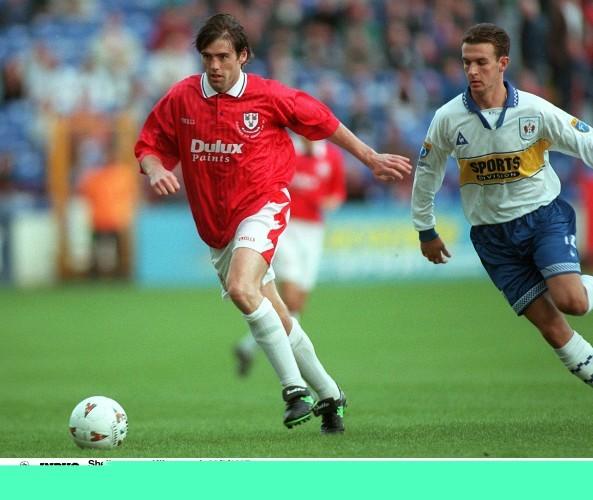 Tony Sheridan/Jim McIntyre Shelbourne v Kilmarnock 28/8/1997