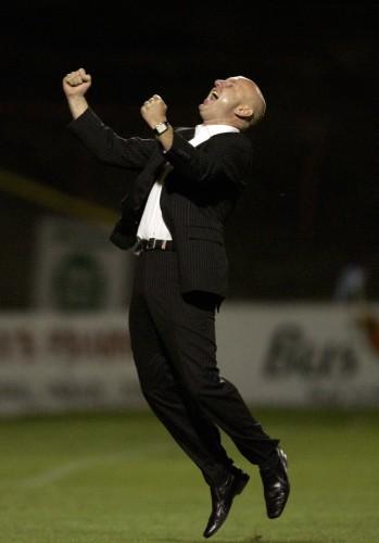 Paul Doolin celebrates