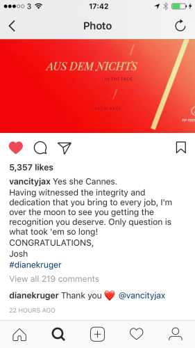 Joshua Jackson posted an adorable Instagram about Diane