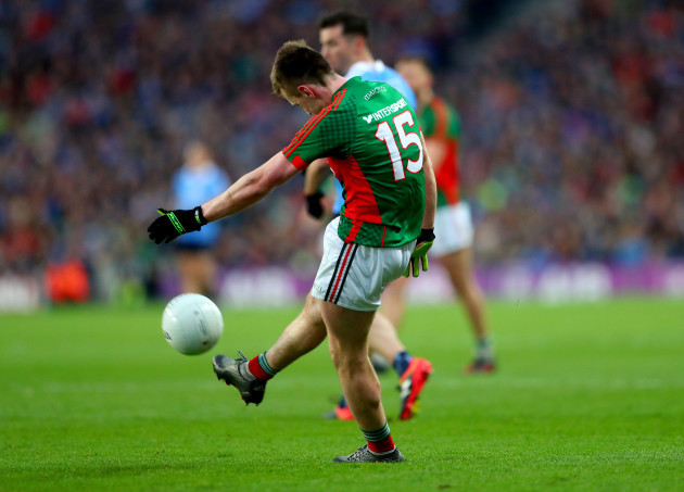 Cillian O'Connor misses late free to equalise the game