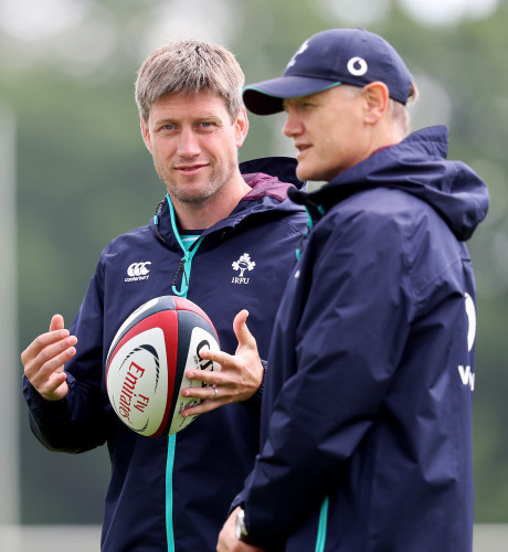 Ronan O'Gara with Joe Schmidt