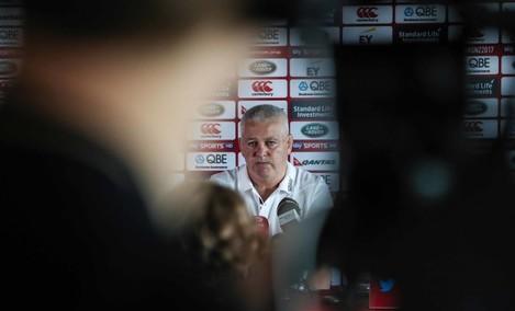 Head Coach Warren Gatland during the press conference