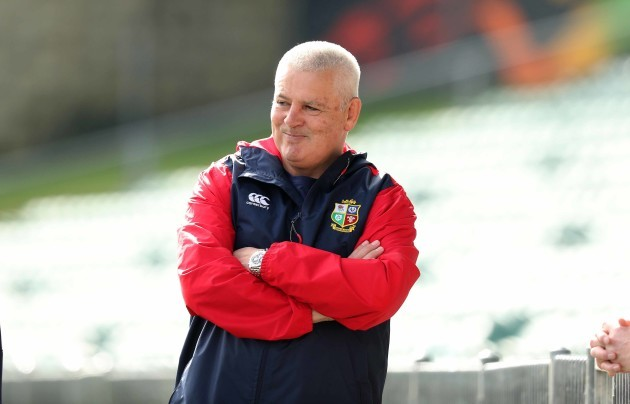 Head Coach Warren Gatland during the training