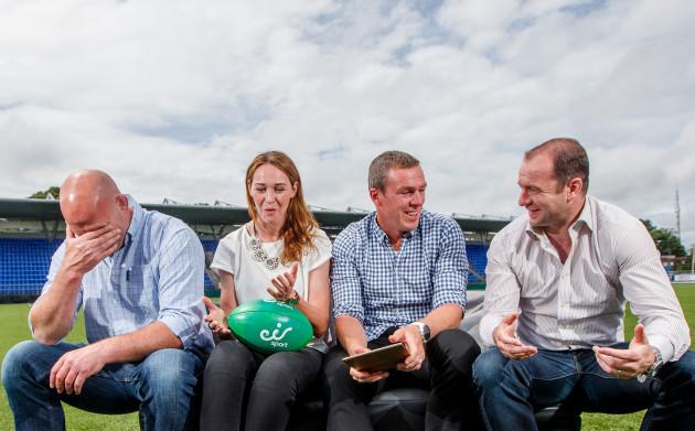 John Hayes, Marie Louise Reilly, Richard Dunne and Geordan Murphy