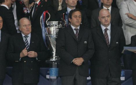 Blatter, Platini And Infantino - Athens