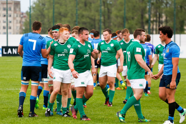 Ireland players dejected after the game
