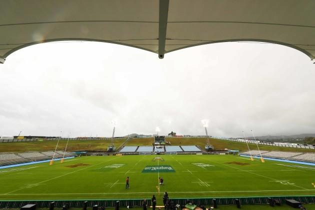 Toll Stadium  during the kicking practice