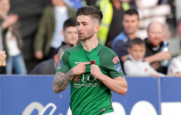Cork City's Sean Maguire celebrates scoring