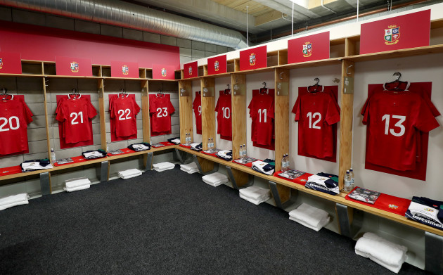 A view of the Lions changing room