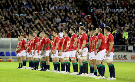 The Lions team ahead of the game