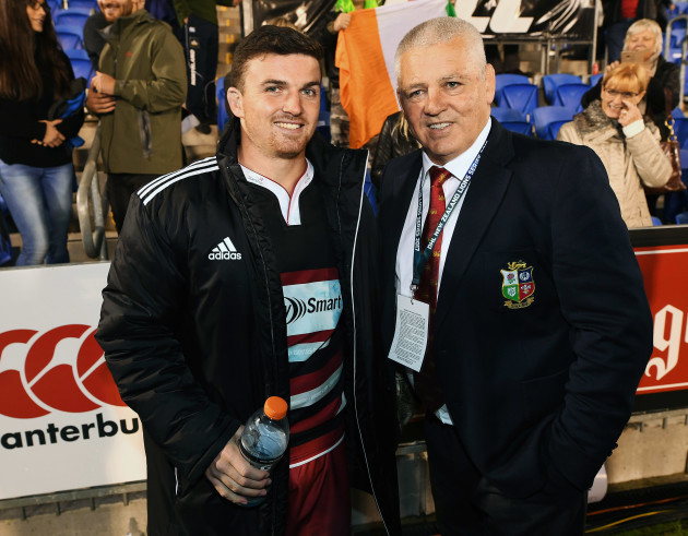 Bryn Gatland with his father Warren Gatland