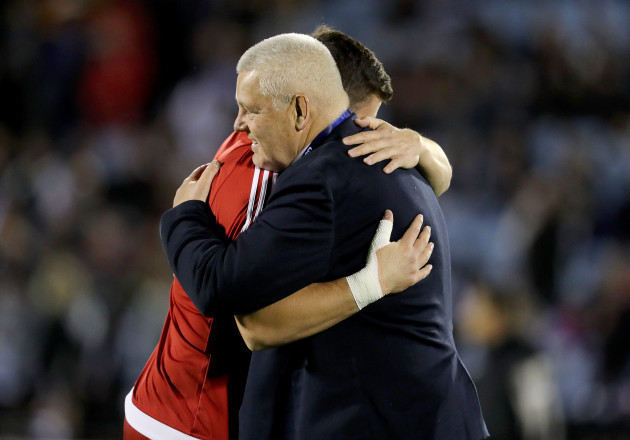 Warren Gatland with his son Bryn Gatland