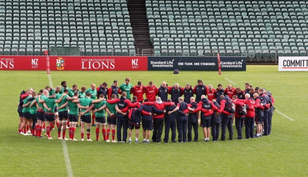 A minutes silence for the victims of the London  terrorist attack during the Captains Run