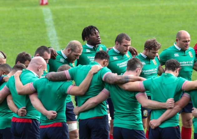 A minutes silence for the victims of the London  terrorist attack during the Captains Run Maro Otoje