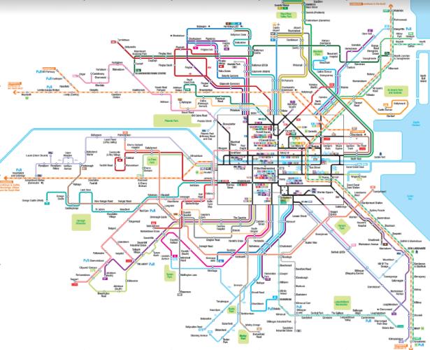 Dublin's bus map