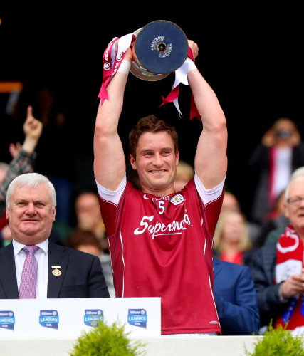 Gary O'Donnell lifts the trophy