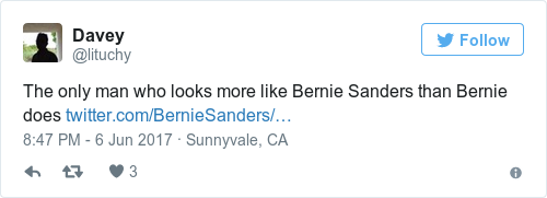 Bernie Sanders tweeted about his meeting with Michael D and