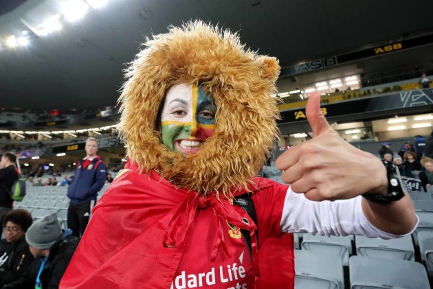 A Lions fan ahead of the game