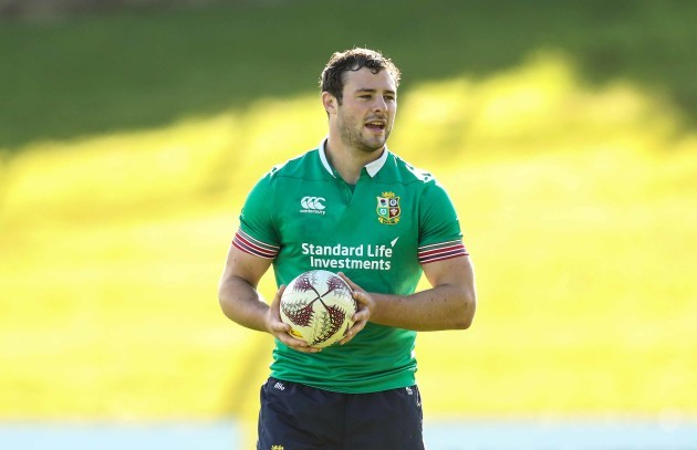 Robbie Henshaw during the Captains Run