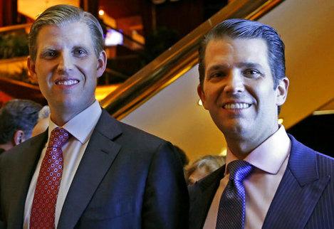 Eric Trump, Donald Trump Jr.