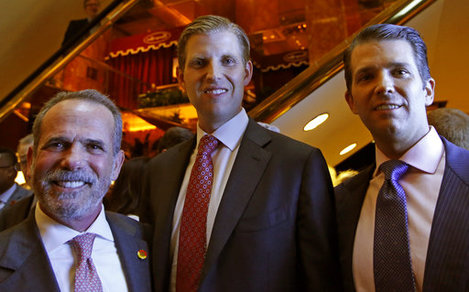 Eric Danziger, Eric Trump, Donald Trump Jr.