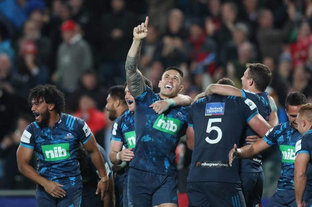 Sonny Bill Williams celebrates at the final whistle