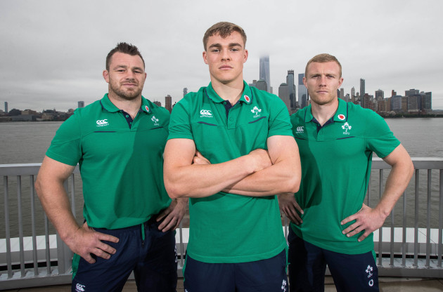 Cian Healy, Garry Ringrose and Keith Earls
