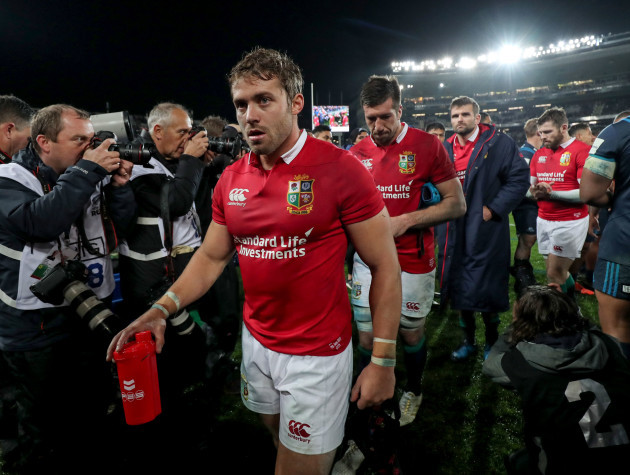 Leigh Halfpenny dejected after the game
