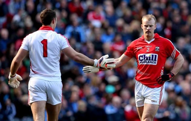 Ken O'Halloran celebrates with Michael Shields