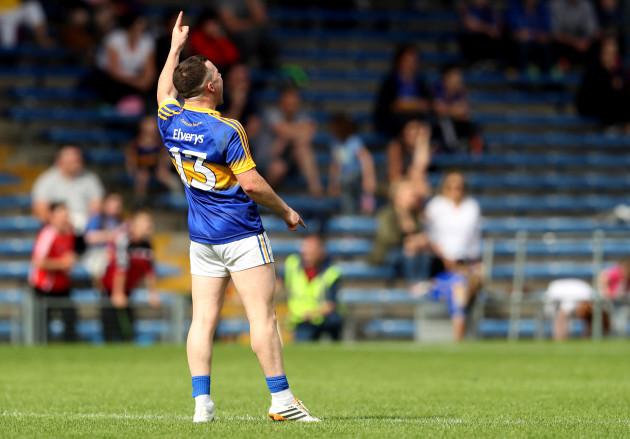 Kevin O'Halloran celebrates a late point