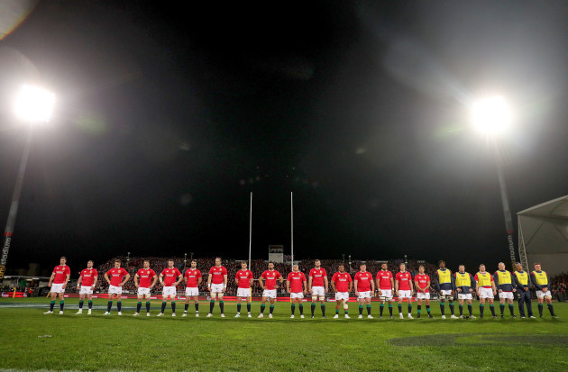 The Lions team line-up