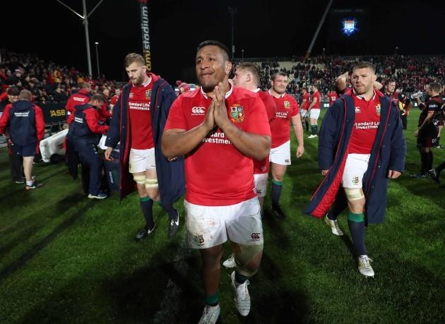 Mako Vunipola celebrates winning